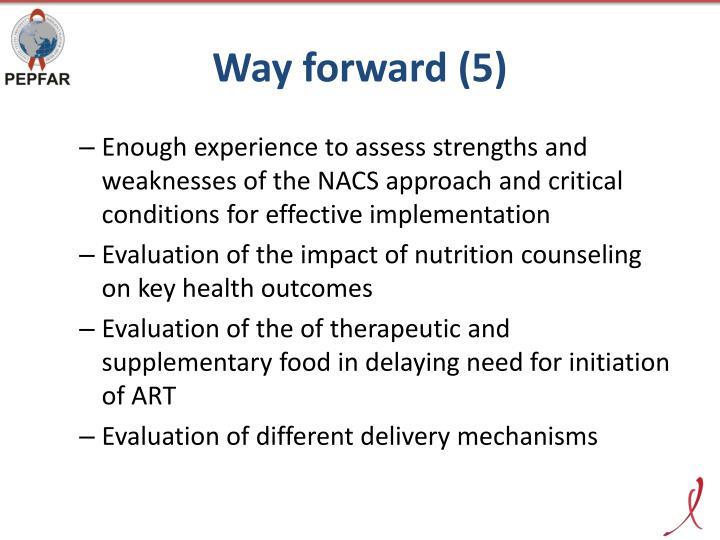 Way forward (5)