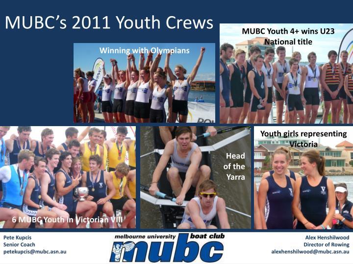 MUBC's 2011 Youth Crews