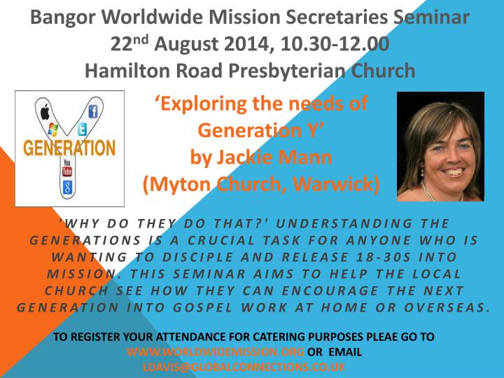 Bangor Worldwide Mission Secretaries Seminar 22