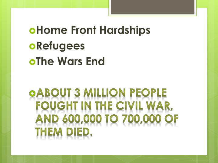 Home Front Hardships