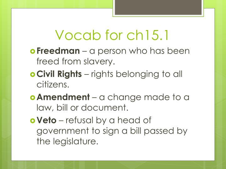 Vocab for ch15.1