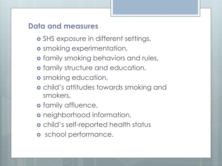 Data and measures