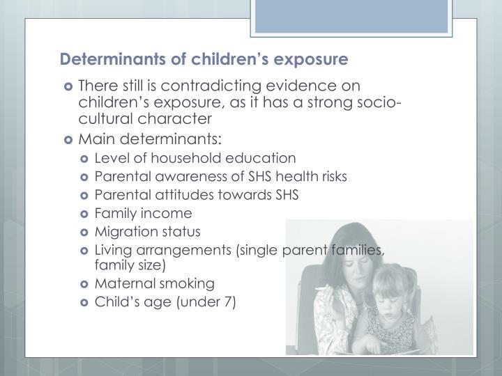 Determinants of children's exposure