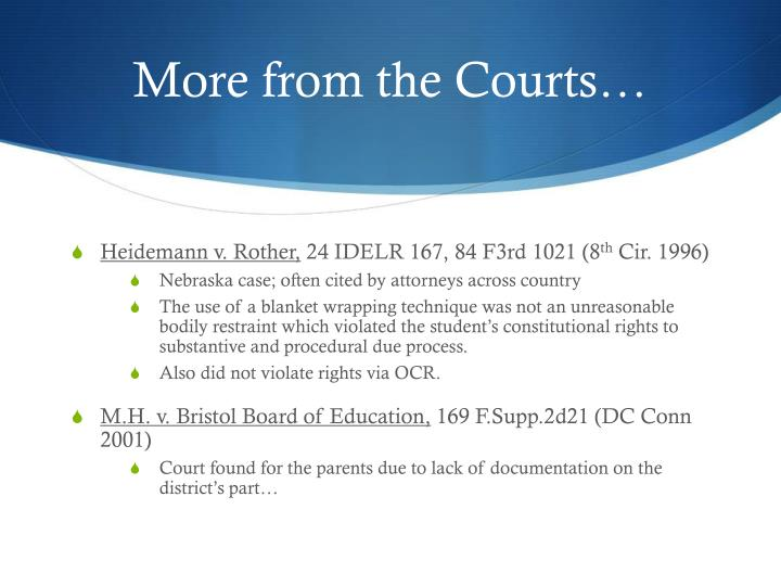 More from the Courts…