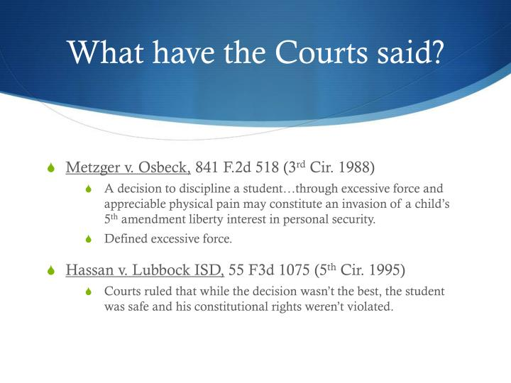 What have the Courts said?