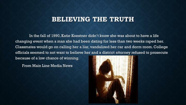 Believing the truth