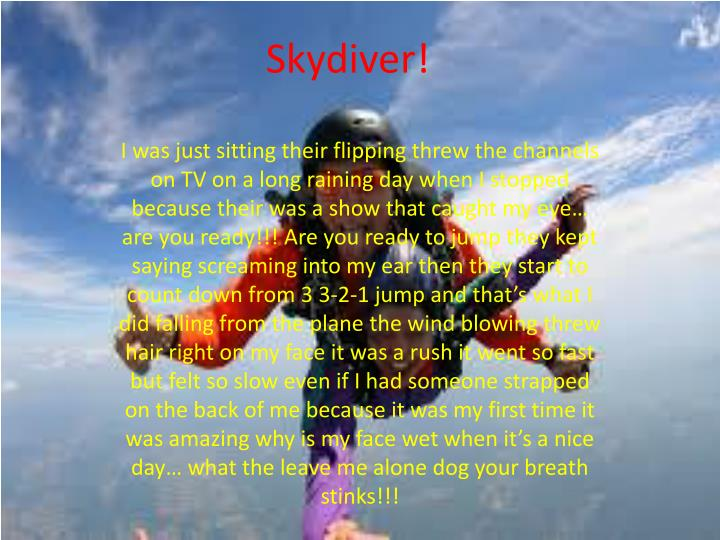 Skydiver!