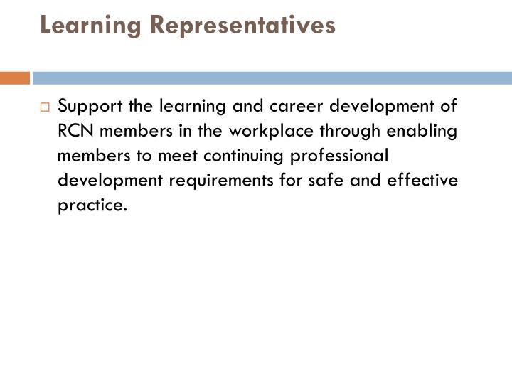Learning Representatives