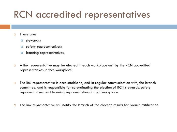 RCN accredited representatives