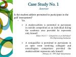 case study no 1 answer