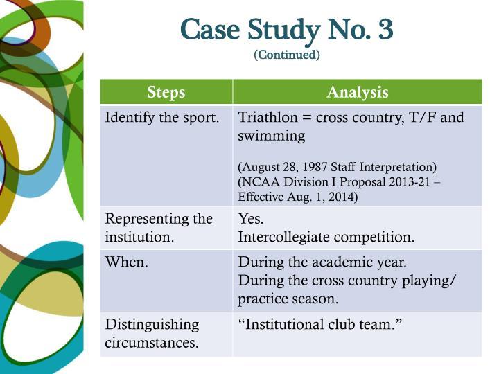 Case Study No. 3