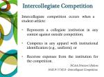 intercollegiate competition