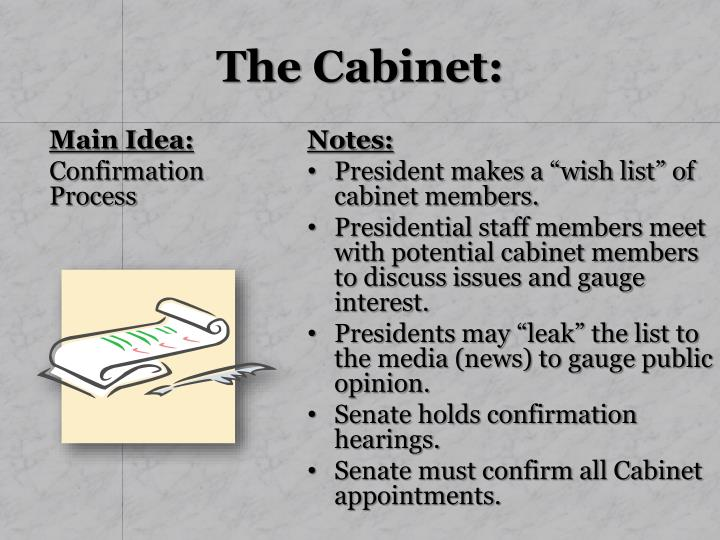 The Cabinet: