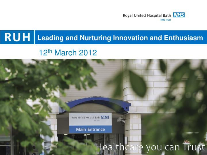 Leading and Nurturing Innovation and Enthusiasm