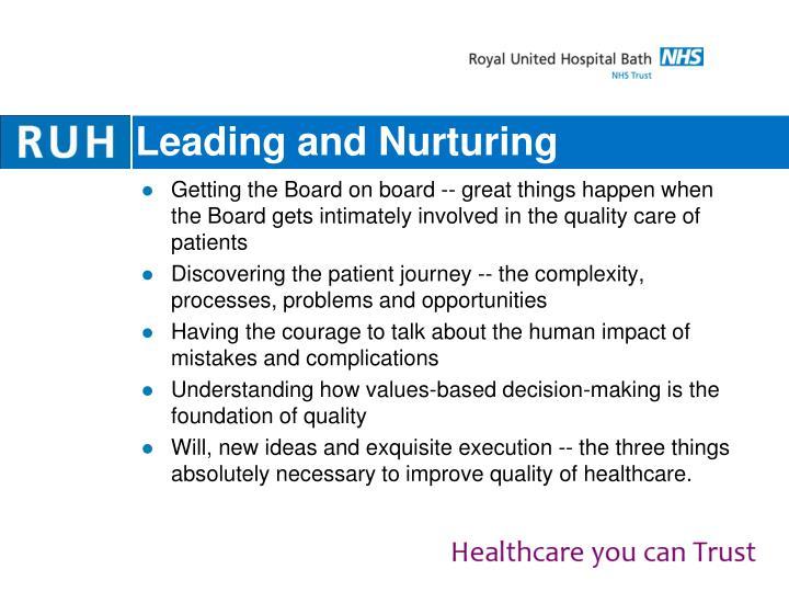 Leading and Nurturing