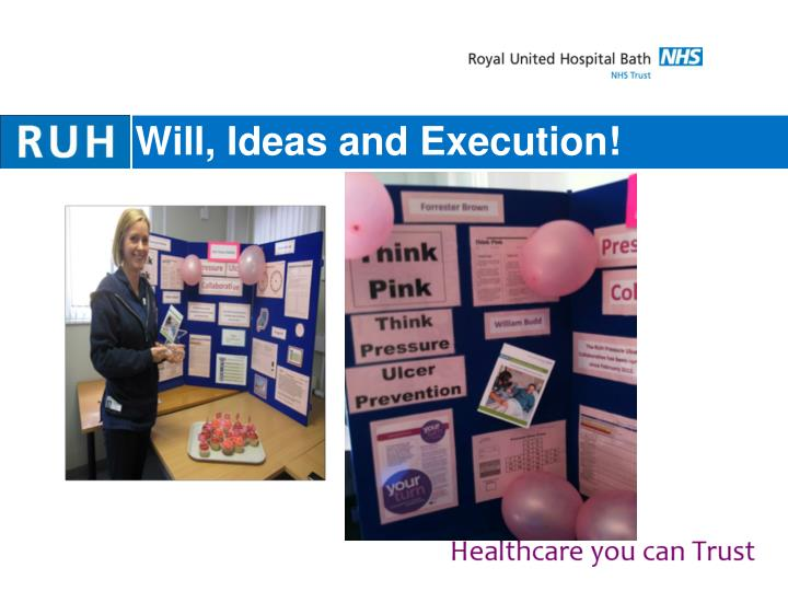 Will, Ideas and Execution!