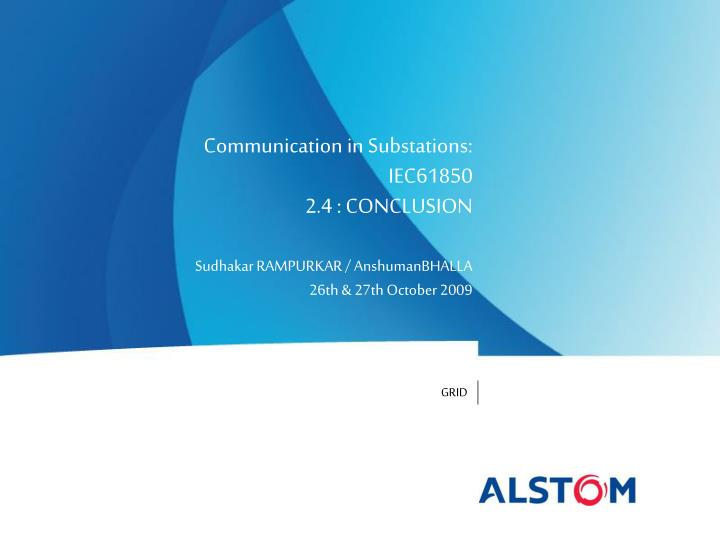communication in substations iec61850 2 4 conclusion