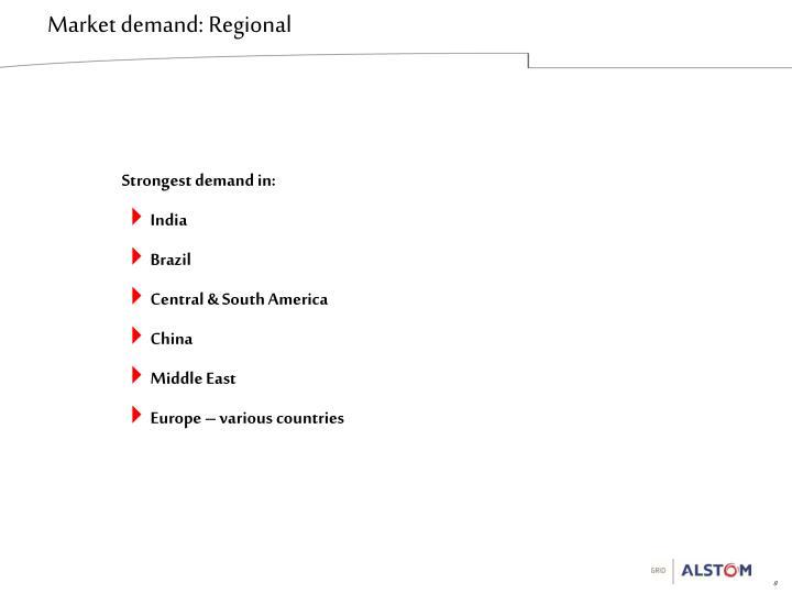 Market demand: Regional