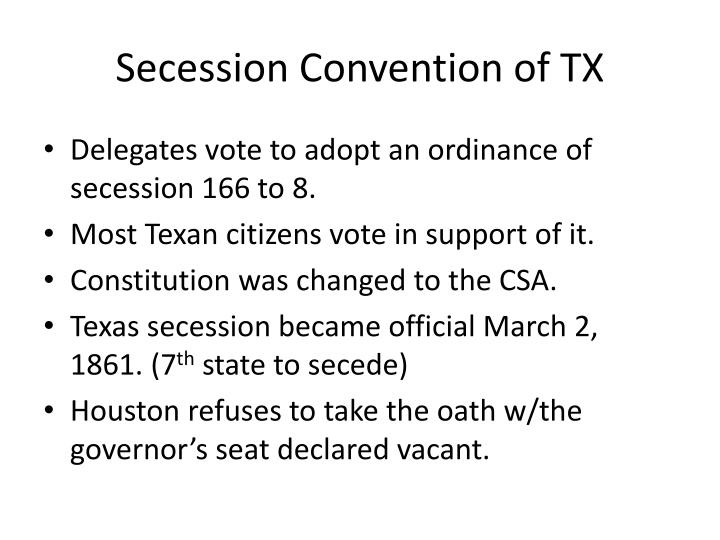 Secession Convention of TX