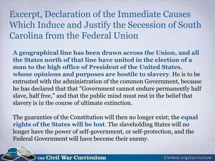 Excerpt, Declaration