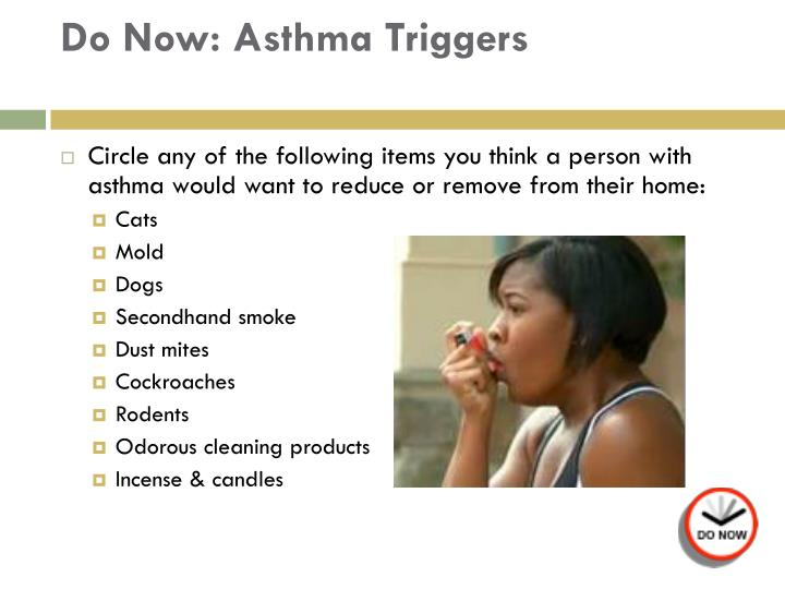 Do now asthma triggers