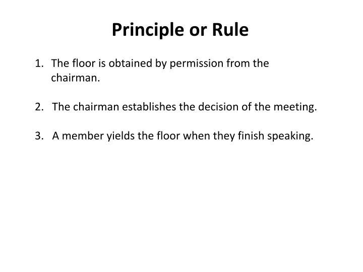 Principle or