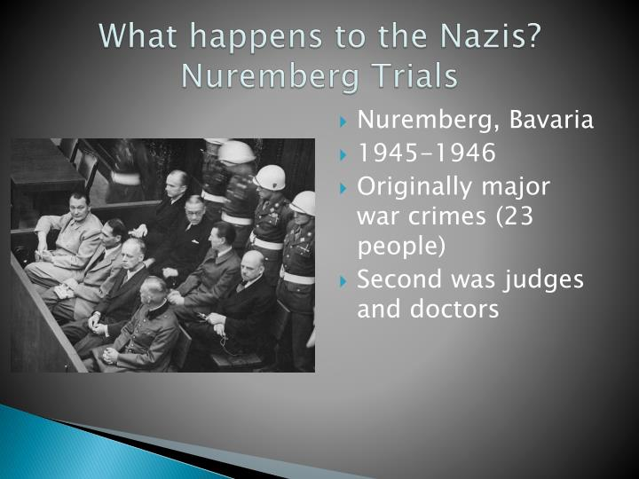What happens to the Nazis? Nuremberg