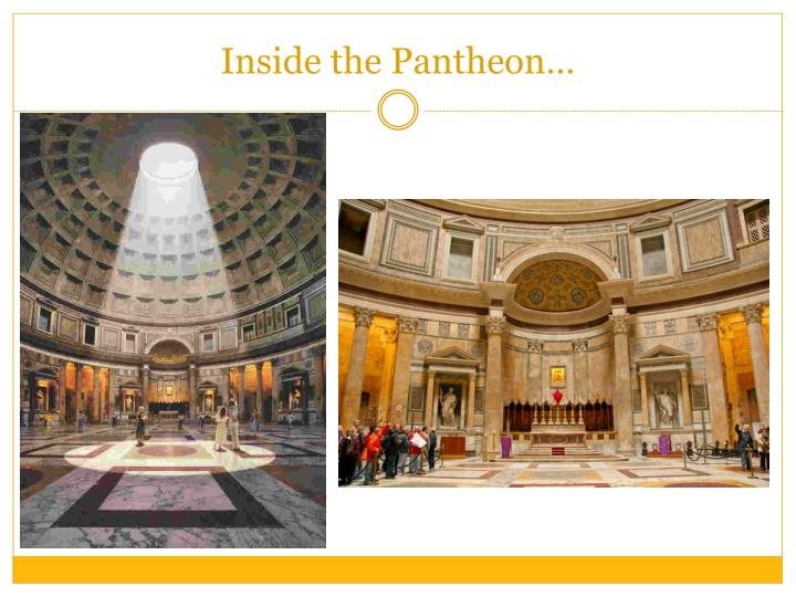 Inside the Pantheon…