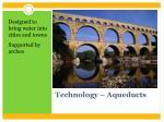 technology aqueducts
