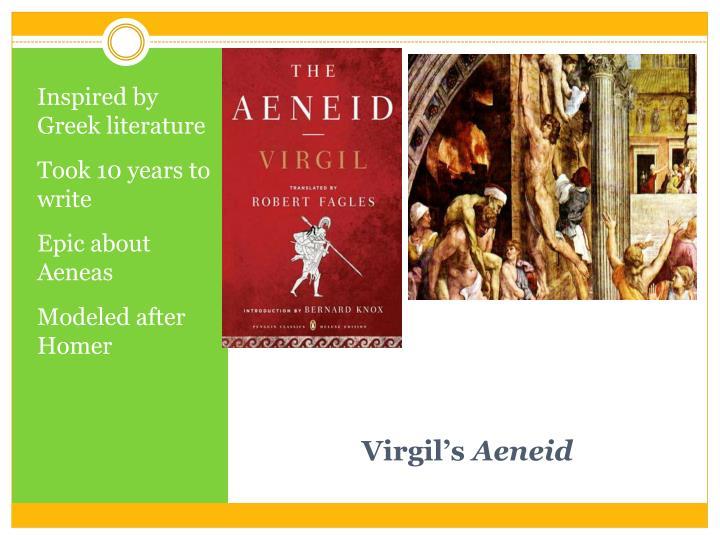 Inspired by Greek literature