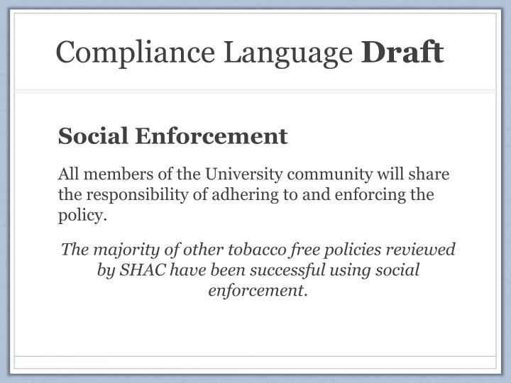 Compliance Language