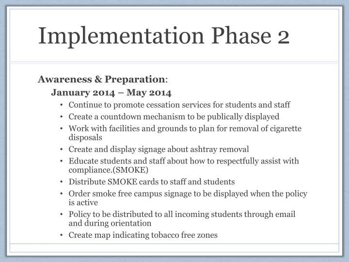 Implementation Phase 2