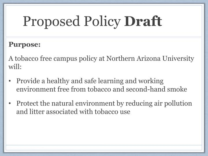 Proposed Policy