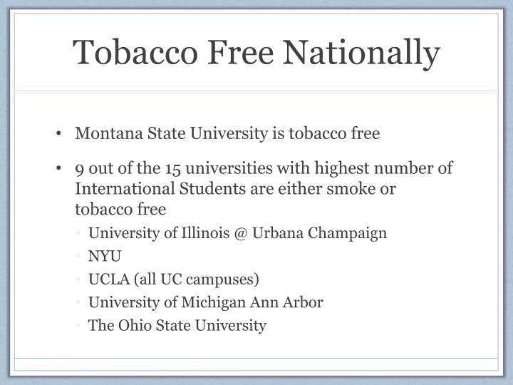 Tobacco Free Nationally