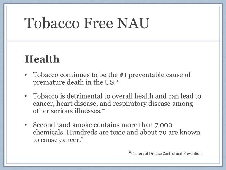 Tobacco Free NAU