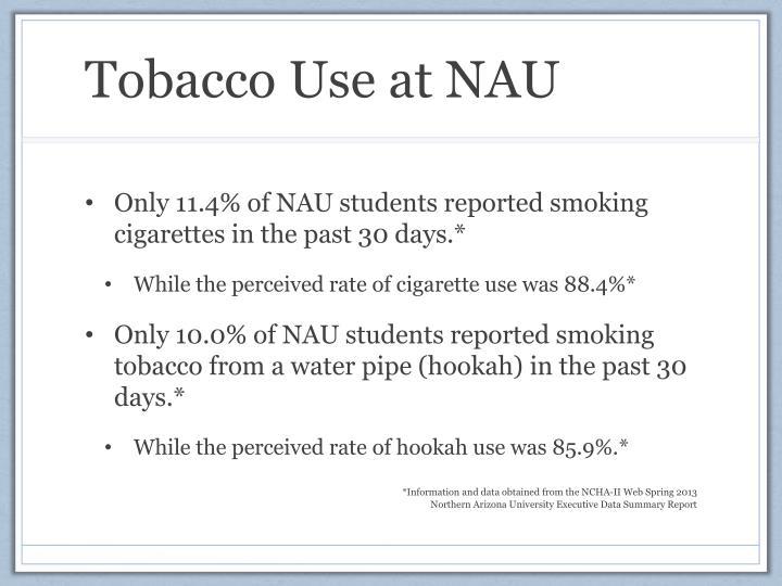 Tobacco Use at NAU