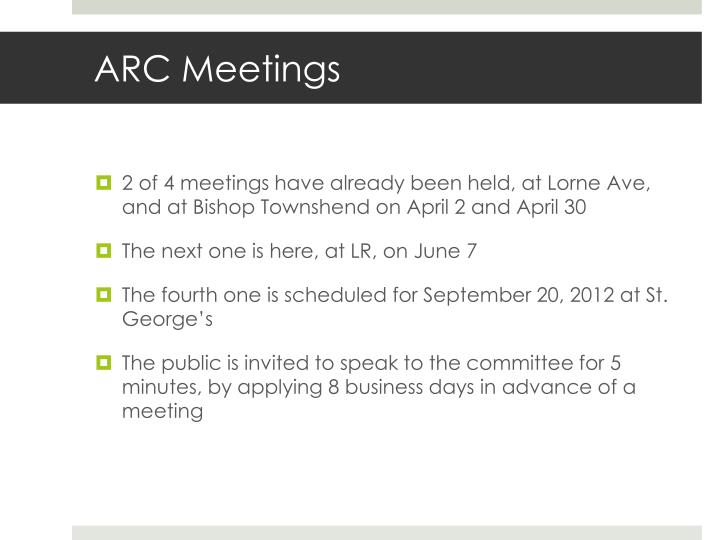 ARC Meetings
