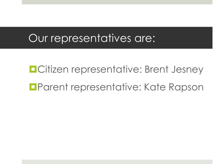 Our representatives are: