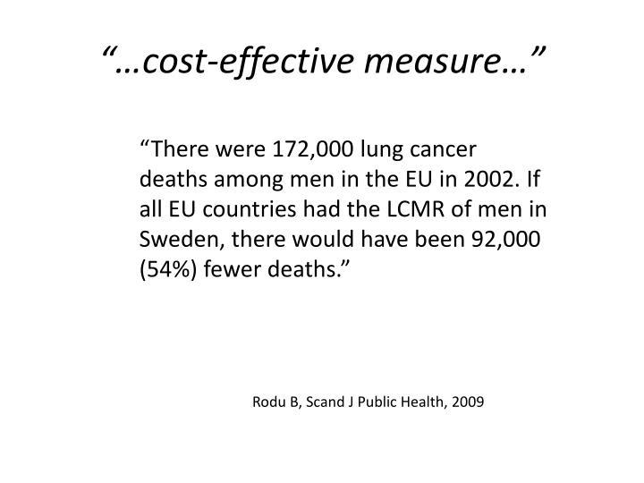 """…cost-effective measure…"""