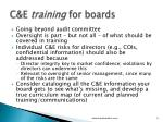 c e training for boards