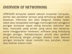 overview of networking