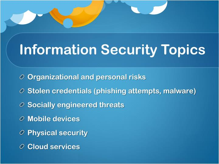 Information Security Topics