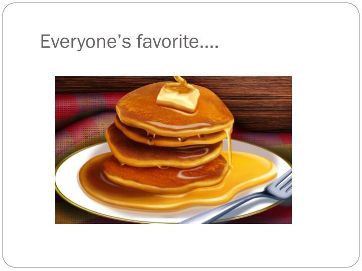 Everyone's favorite….