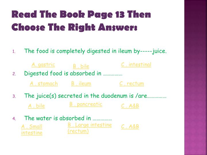 Read The Book Page 13 Then Choose The Right Answer
