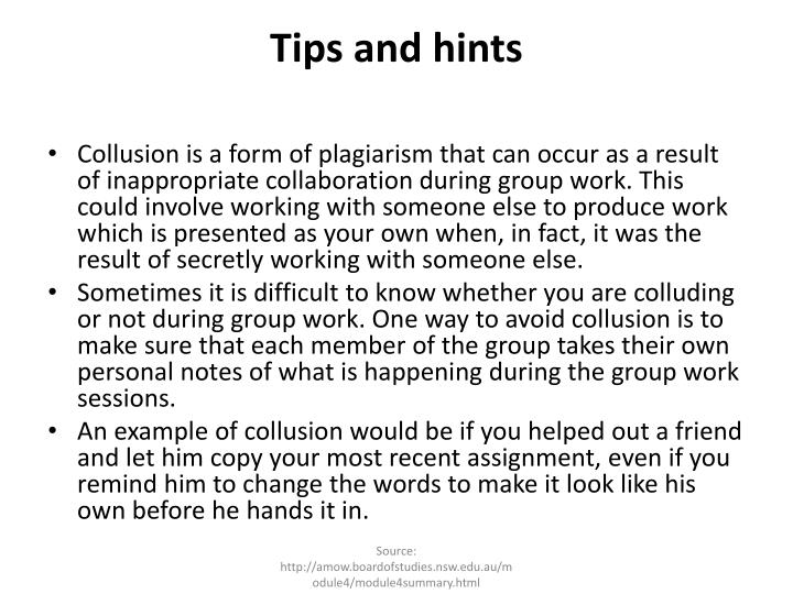 Tips and hints