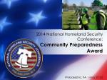2014 national homeland security conference community preparedness award1