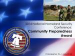 2014 national homeland security conference community preparedness award2