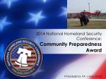 2014 national homeland security conference community preparedness award3