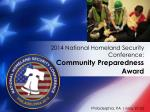 2014 national homeland security conference community preparedness award4