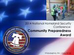 2014 national homeland security conference community preparedness award5